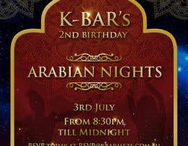 "#72 cho Design a Flyer/Poster for ""ARABIAN NIGHTS"" Theme Event bởi elgu"