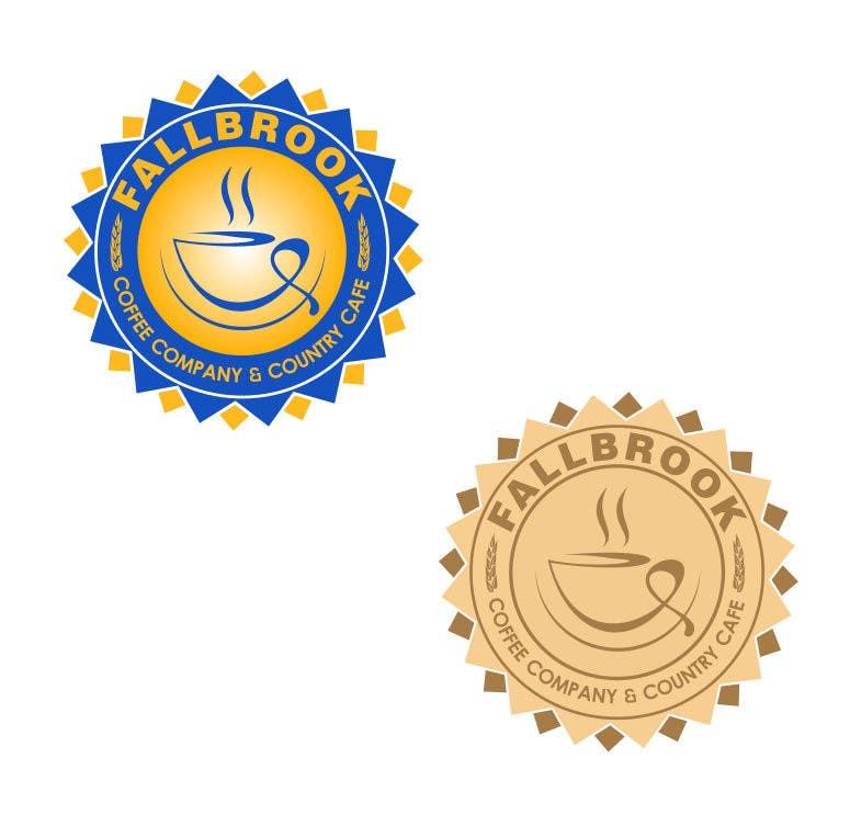 Penyertaan Peraduan #68 untuk Fallbrook Coffee Company Logo