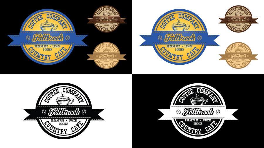 Penyertaan Peraduan #71 untuk Fallbrook Coffee Company Logo