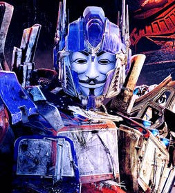 #12 for V FOR VENDETTA    VS    OPTIMUS PRIME af gmorya