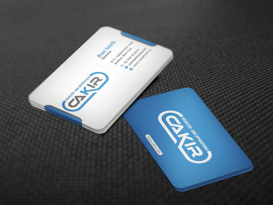 Penyertaan Peraduan #68 untuk Design of a Businesscard and a letterhead for the Company CAKIR