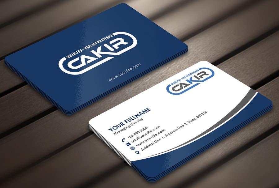 Penyertaan Peraduan #55 untuk Design of a Businesscard and a letterhead for the Company CAKIR