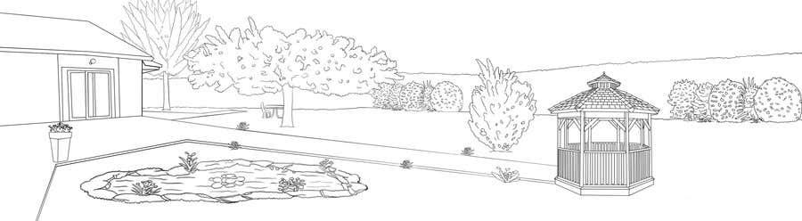 Proposition n°5 du concours J'ai besoin d'une conception graphique pour réaliser une illustration de jardin