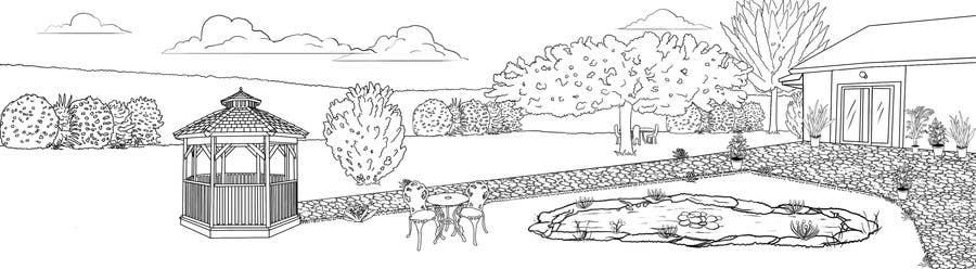 Proposition n°13 du concours J'ai besoin d'une conception graphique pour réaliser une illustration de jardin
