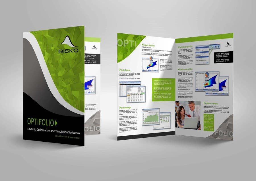 convert a brief presentation into a professional looking product