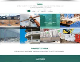 #2 for Design a Website Mockup for Fortress Fencing Building Homepage af mahiweb123