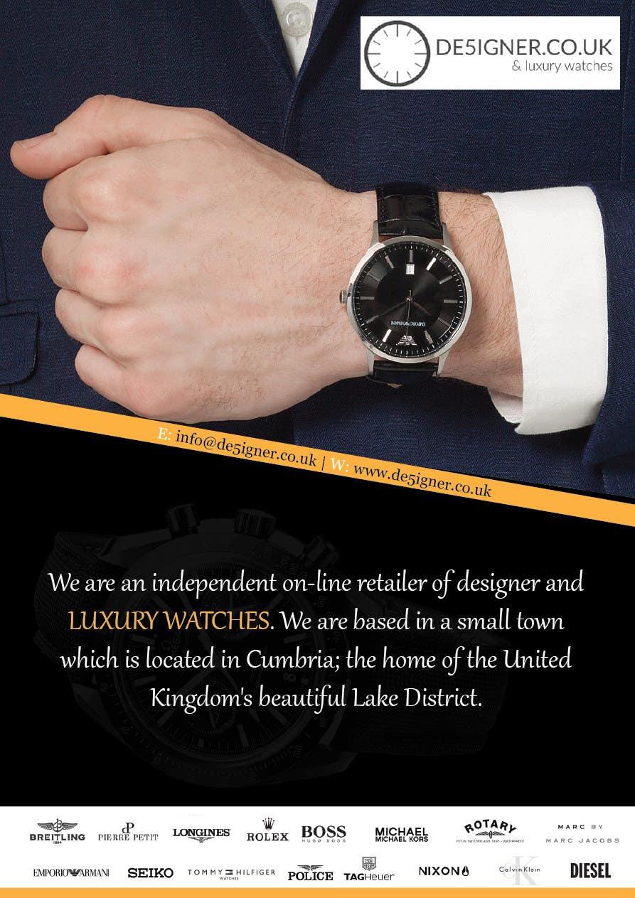 Penyertaan Peraduan #33 untuk Design a Flyer for a luxury watch store
