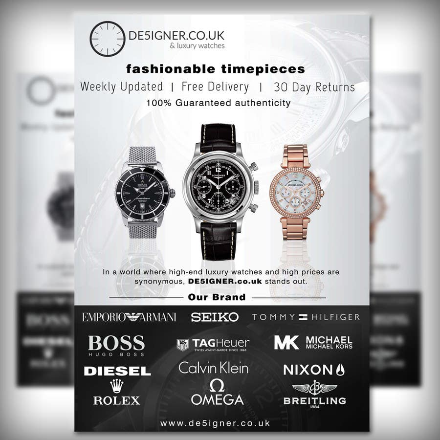 entry 31 by adidoank123 for design a flyer for a luxury watch store