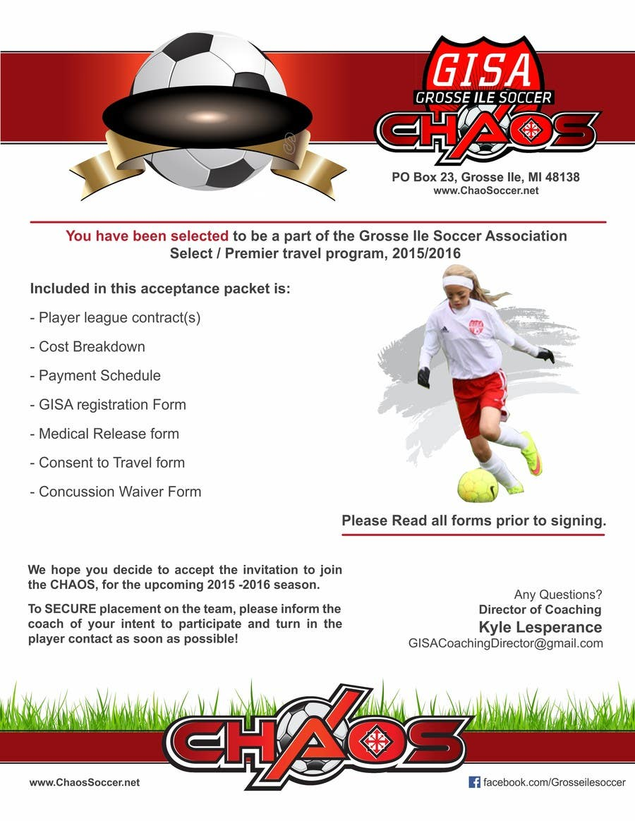 Konkurrenceindlæg #1 for Edit a Flyer for Soccer Tryout