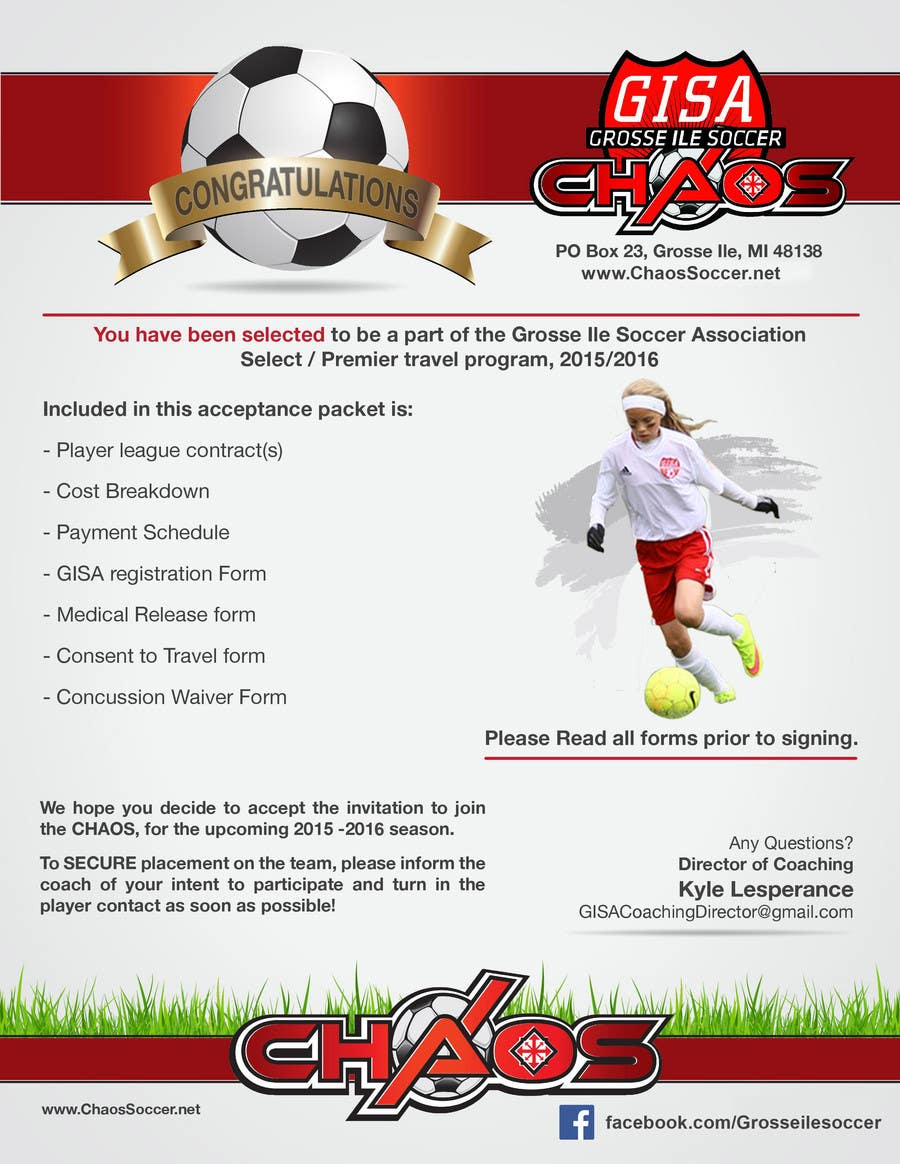 Konkurrenceindlæg #4 for Edit a Flyer for Soccer Tryout