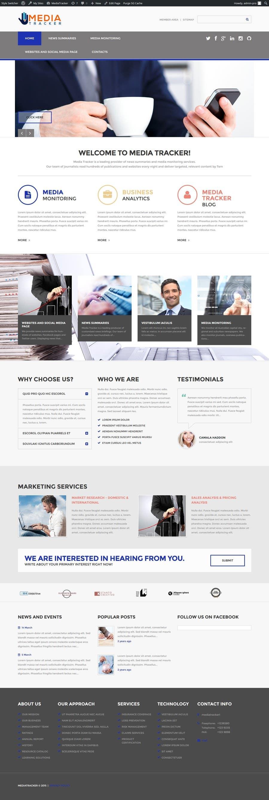 Bài tham dự cuộc thi #9 cho Make my website more professional