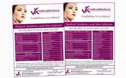 Nro 9 kilpailuun Design a Flyer for aesthetic clinic -- 2 käyttäjältä LeeniDesigns
