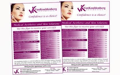 Nro 11 kilpailuun Design a Flyer for aesthetic clinic -- 2 käyttäjältä LeeniDesigns