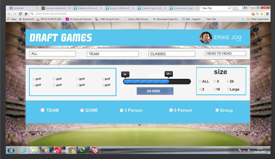 Penyertaan Peraduan #15 untuk Design a Website Mockup for  interface