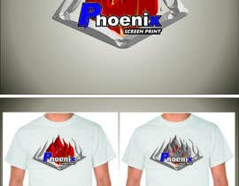 #21 for Design a Logo for Phoenix Screen Printing af ALEJVNDRO