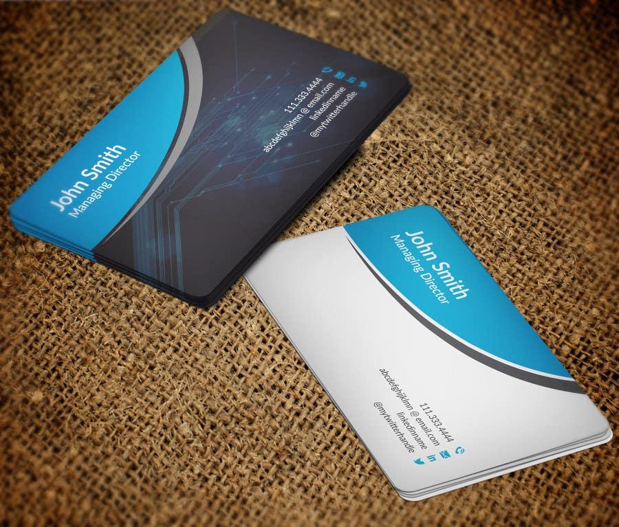 Bài tham dự cuộc thi #42 cho Business Card design for technology professional
