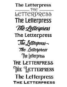 Nro 34 kilpailuun The Letterpress käyttäjältä johanfcb0690