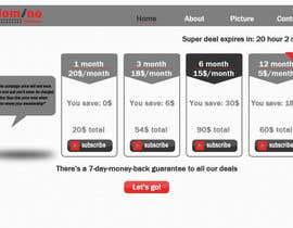 atiquecse11 tarafından Design a subscription page için no 10