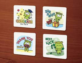 #45 for Create a main character and illustrate beverage coasters af Stevieyuki