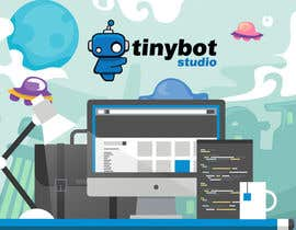 #17 untuk Design a Website Mockup for The TINY BOT STUDIOS oleh leandeganos