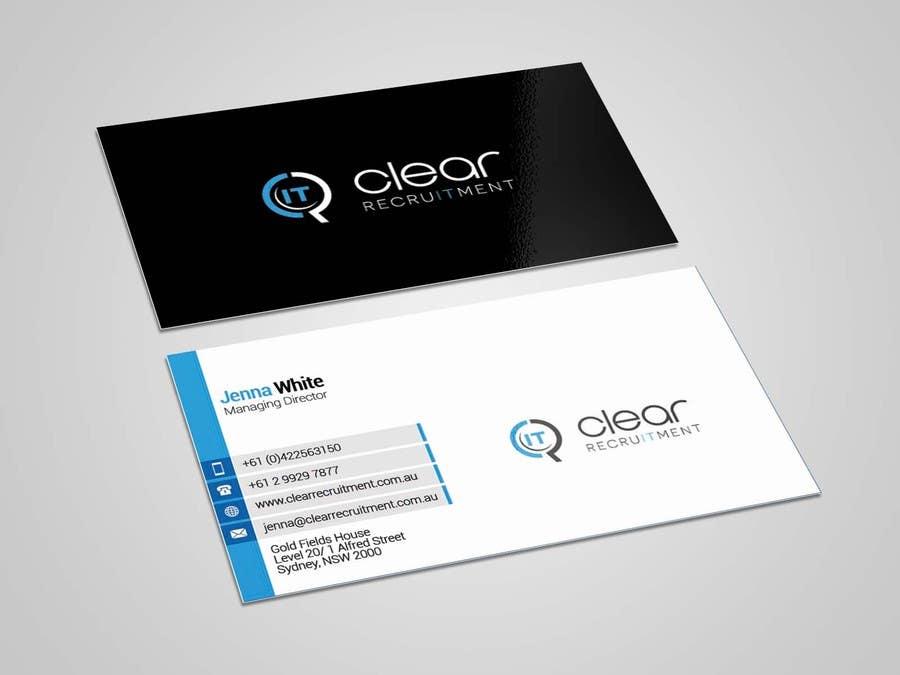 Penyertaan Peraduan #35 untuk Recruitment Firm Business Card
