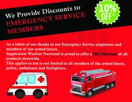 #16 for design a poster advertising discounts for emergency service members af uzairkhan9497