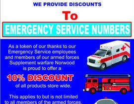#11 for design a poster advertising discounts for emergency service members af FiifiOtJnr