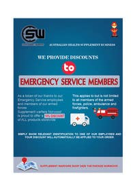 #2 untuk design a poster advertising discounts for emergency service members oleh crazenators