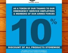 #23 untuk design a poster advertising discounts for emergency service members oleh creazinedesign