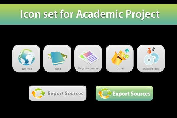 Icons Design for Academic Project için 27 numaralı Yarışma Girdisi