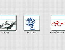 #37 untuk Icons Design for Academic Project oleh fivedesignstudio