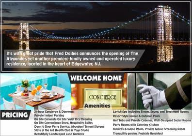 Nro 6 kilpailuun Design an Advertisement for Luxury Building Postcard käyttäjältä rajkumar3219