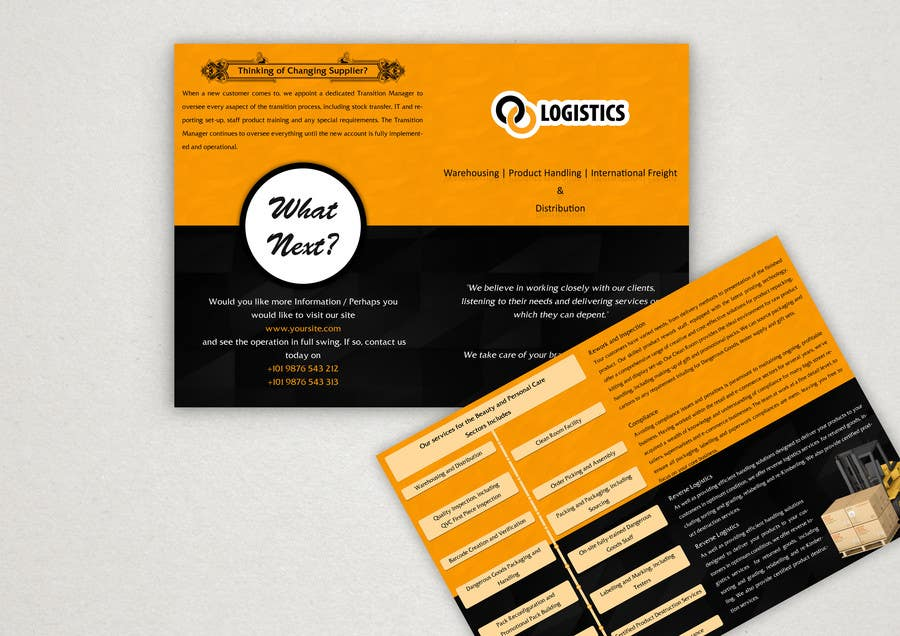 Entry #30 by rginfosystems for Design a Brochure for Logistics