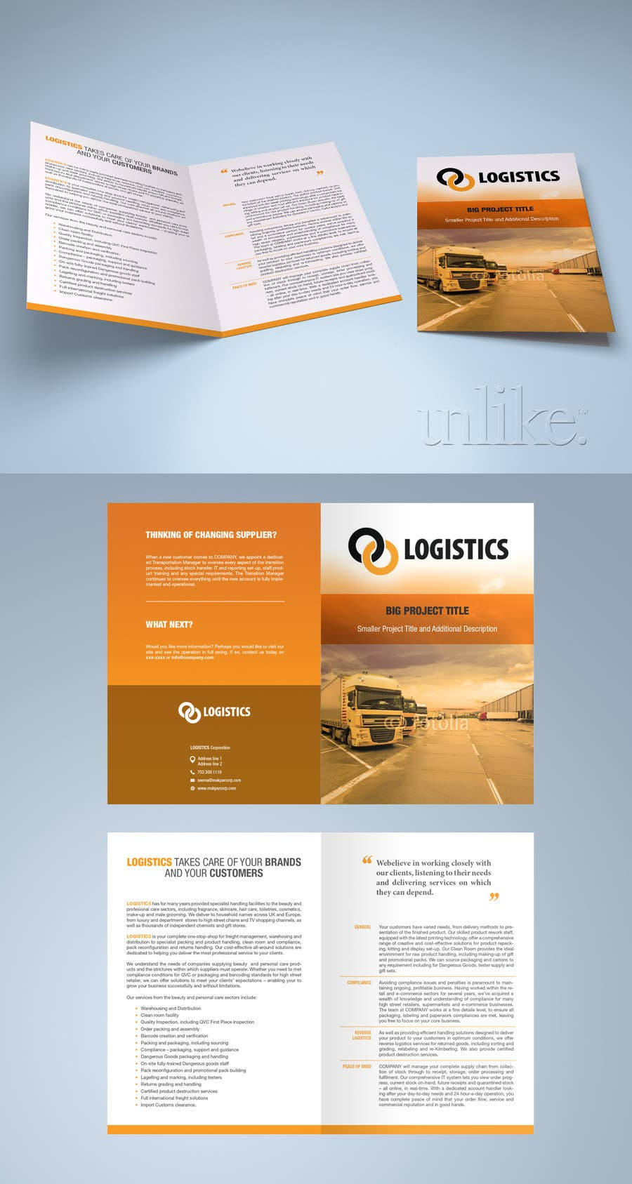 Entry #12 by cibin for Design a Brochure for Logistics Company