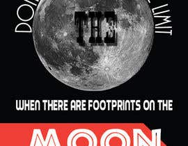 #3 for Creative Design for Inspirational Quote! (Footsteps on the moon) af rogeriolmarcos