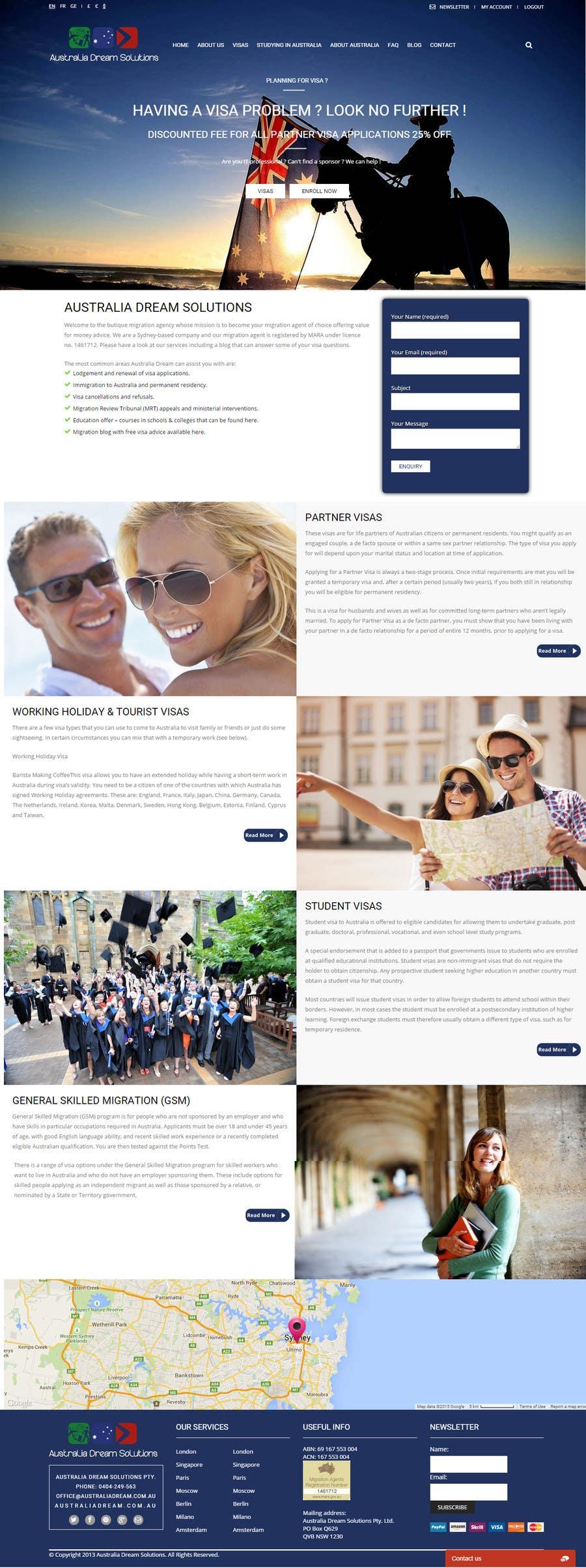 Kilpailutyö #16 kilpailussa Home page redesign by making it sales-focused (legal services).