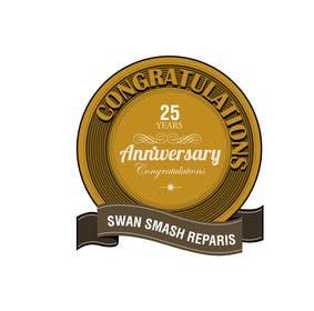 #53 untuk 25th Anniversary Logo oleh ranjandesigner