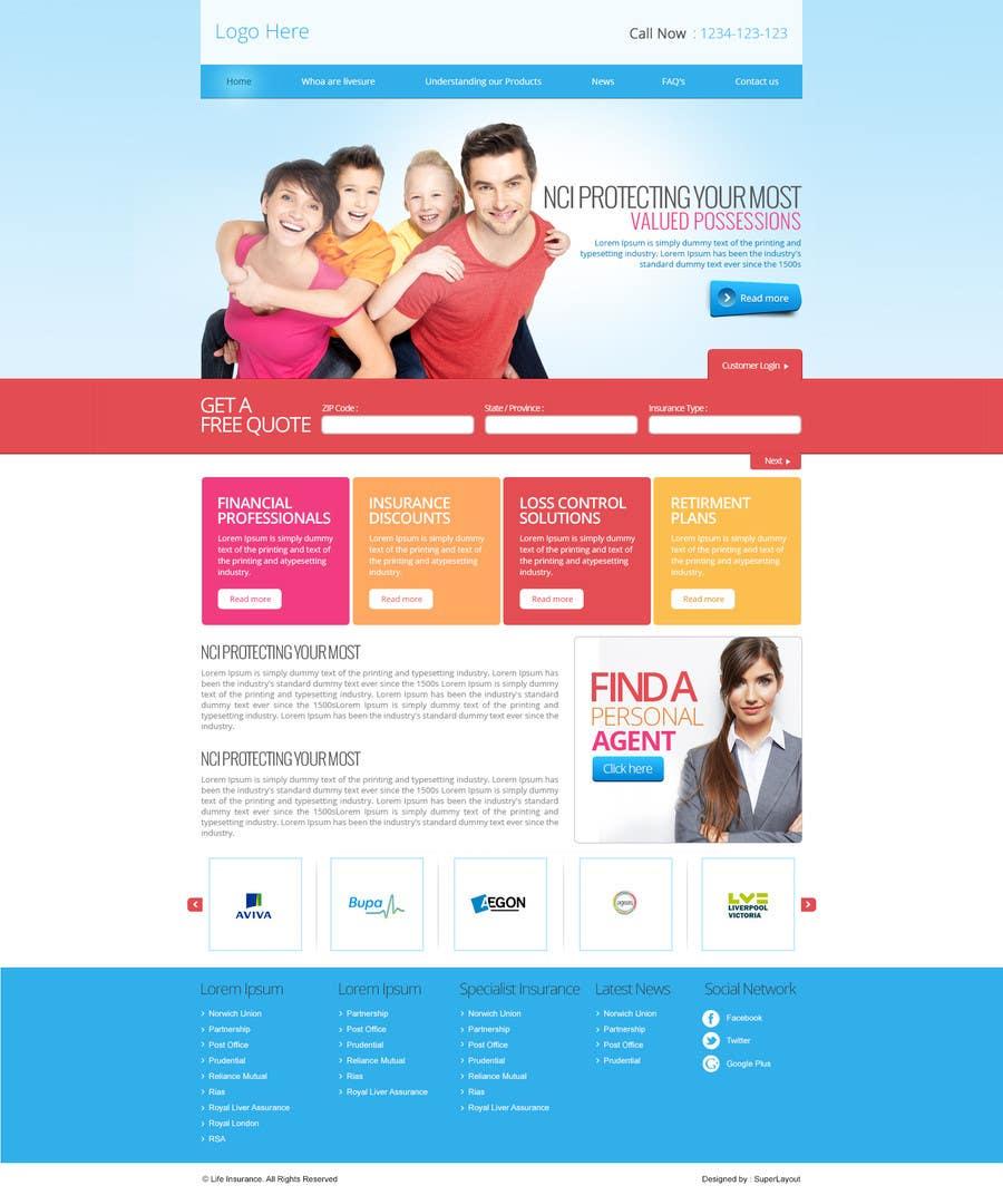 #17 for Design a Website Mockup by superlayout