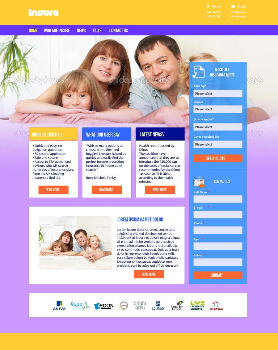 #19 for Design a Website Mockup by helixnebula2010