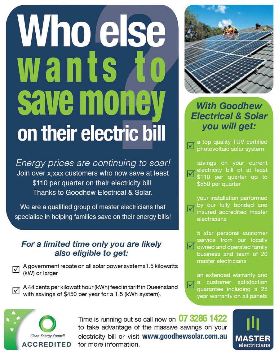 Natečajni vnos #                                        11                                      za                                         Advertisement Design for Goodhew Solar & Electrical