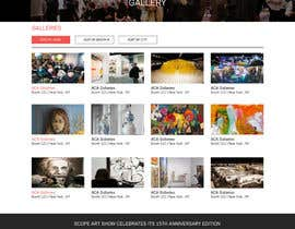 #4 cho Design Landing Page, Responsive Landing Page & Overall Theme for Art Fair Website bởi webidea12