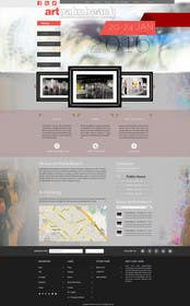 logodesire tarafından Design Landing Page, Responsive Landing Page & Overall Theme for Art Fair Website için no 17