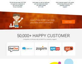 frntech tarafından Create a responsive website design for a new live chat customer support company için no 14