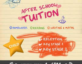 Nro 6 kilpailuun flyer for a after school tuition. käyttäjältä Creativeapes1