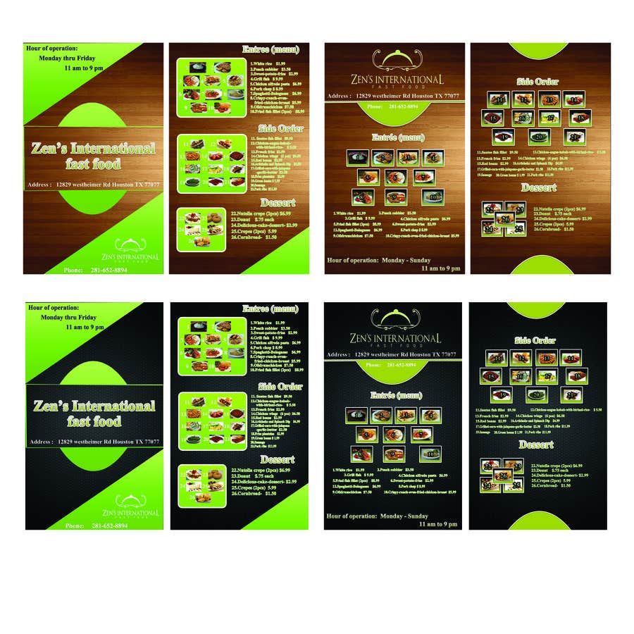 Konkurrenceindlæg #16 for Design a Flyer and menu for restaurant