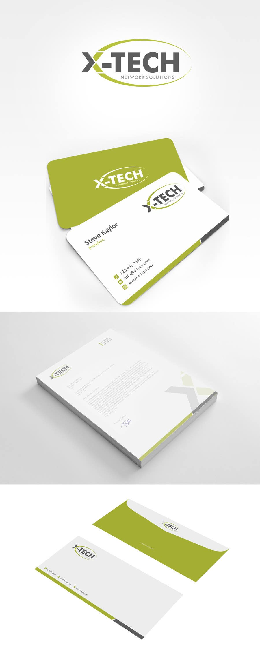 #39 for Develop a Corporate Identity for X-TechNetwork.com (Logo, Business Card & Letterhead) by ezesol