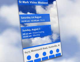 #11 for Design a Flyer for Vision Weekend by Tommy50