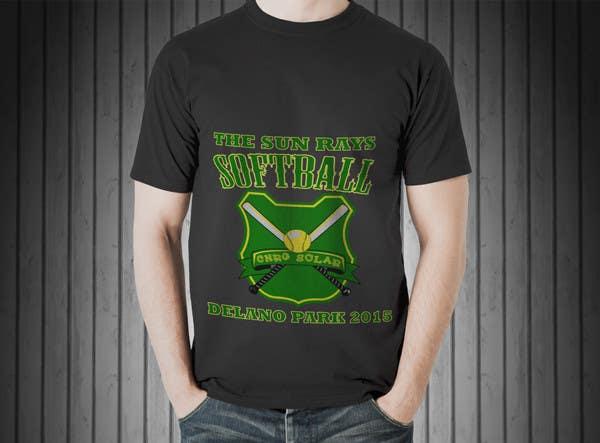Inscrição nº 4 do Concurso para Design a T-Shirt for a softball team