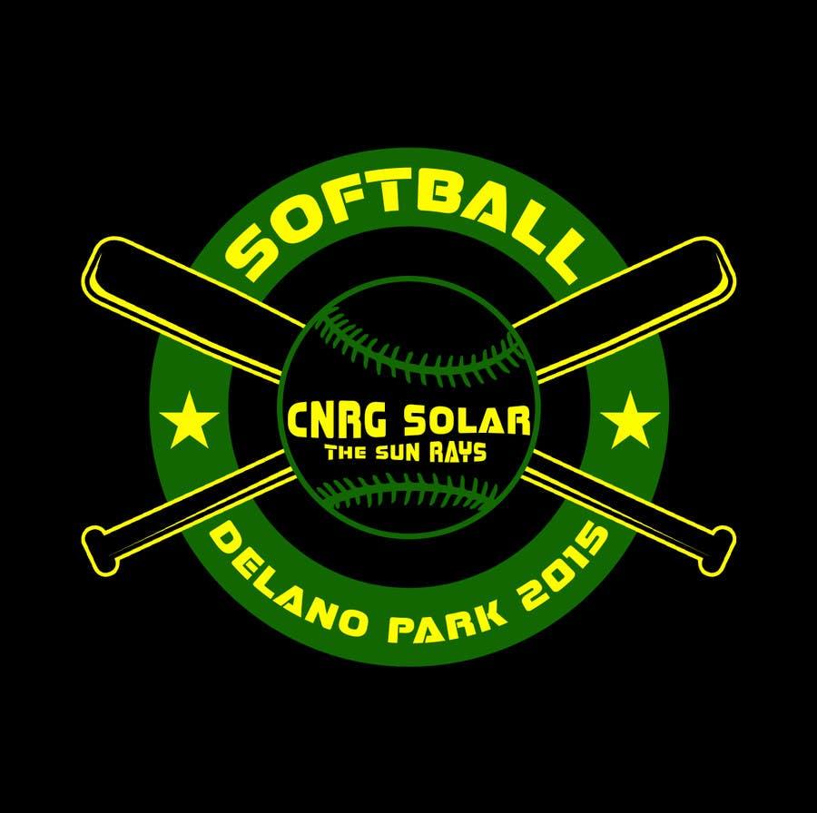 Inscrição nº 12 do Concurso para Design a T-Shirt for a softball team