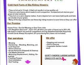 #5 para Design a Flyer for Quiet Corner Landscapers LLC por fidelmaloloyon